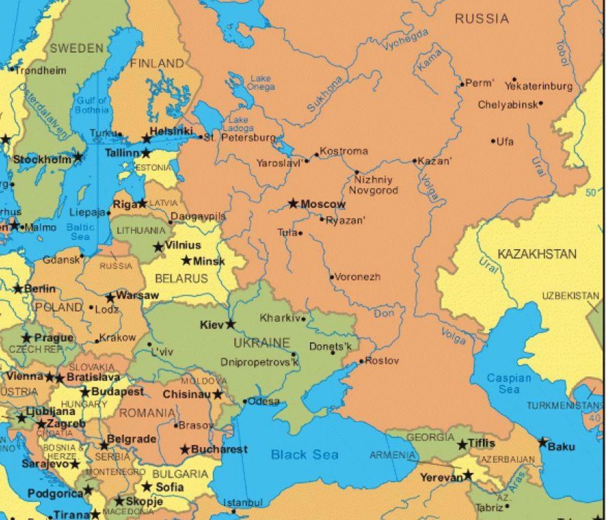خريطة أوروبا الشرقية و روسيا أوروبا الشرقية وروسيا خريطة شرق أوروبا أوروبا